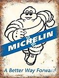 Michelin 171, une meilleure façon Avant, Pneus Pneus, Vintage Garage De Voiture, Course Caoutchouc Man, Métal/Panneau Mural Métalique - 30 x 40 cm