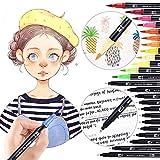 24 couleurs art brosse pinceau croquis marqueurs stylo encre double pointe marqueur marqueur pour dessin graphique manga