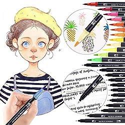 Gaocheng 48 Packs Color Gel Ink Pens, das beste Gel-Set für Erwachsene zum Ausmalen, Zeichnen und Schreiben, mit 1,0 mm Spitzenbereich (12 Metallic + 12 Glitter + 12 Neon + 12 WaterChalk) (#1)