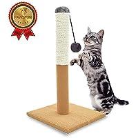FIRIK Griffoir à Chats Grattoir en Sisal Arbre à Chats Poteau à Chat DE 54 cm avec Balle Suspendue Jouet Interactif pour Chat Chaton