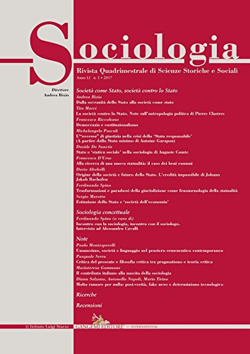 Sociologia n.1/2017: Rivista quadrimestrale di Scienze Storiche e Sociali
