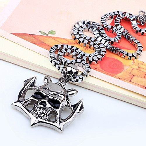 DADATU Halsketten für Herren Schädel Anhänger Sautoir Star Mit Tux Kander Ausverkauft Heißen Kuchen Männliche Pop Schädel (Männliche Pop Art Kostüm)
