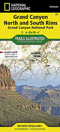 Grand Canyon, Bright Angel & North/South Rim: NATIONAL GEOGRAPHIC Trails Illustrated National Parks (National Geographic Trails Illustrated Map, Band 261)