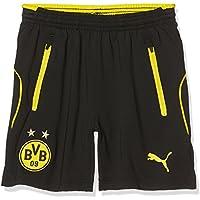 Puma BVB Niños Pantalones Cortos De Entrenamiento para niño, Otoño-invierno, infantil, color puma black-Cyber yellow, tamaño 176