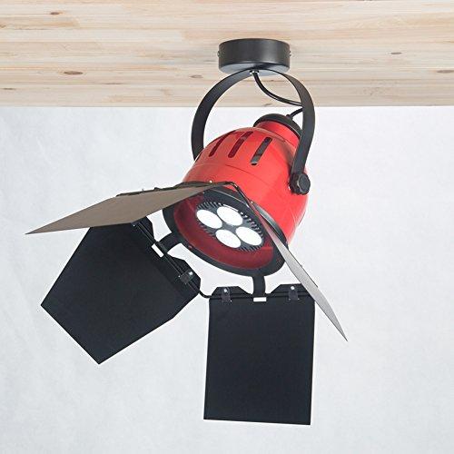 OOFAY LIGHT Moderne rote Deckenleuchte Industrial Home Decor für Coffee Bar Hotel Restaurant Leuchte E27 Lampenfassung -