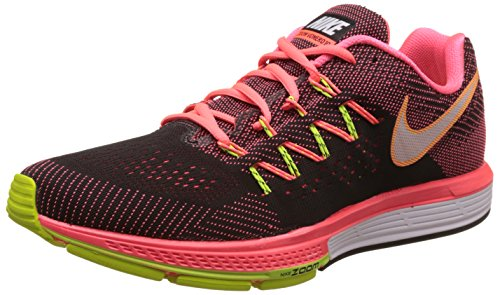 Nike Men's Air Zoom Vomero 10 Hot Lava, White, Black and Volt Running Shoes - 8 UK/India (42.5 EU)(9 US)  available at amazon for Rs.8439