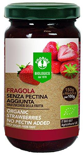 PROBIOS Erdbeer-Brotaufstrich - Gesüßt Nur mit Zucker aus Früchten, 3er Pack (3 x 220 g)