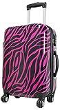 Koffer Zebra Pink Reisekoffer Trolley Beautycase Fa. Bowatex (L Koffer 67cm)