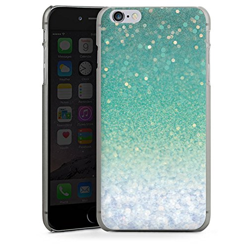 Apple iPhone X Silikon Hülle Case Schutzhülle Glitzer Grün Glitter Hard Case anthrazit-klar