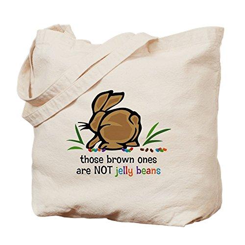 CafePress–Braun Jelly Beans Goodie Bag–Leinwand Natur Tasche, Reinigungstuch Einkaufstasche Tote M khaki