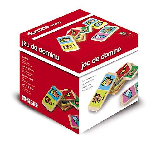 Cartamundi Gioco Del Domino, Gioco di Legno per Bambini, Gioco di Società, Soggetto Animali