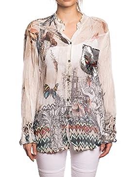 [Sponsorizzato]Abbino 12776 Bluses Tops Donne - Made in Italy - 3 colori - Eleganti Mezza Stagione Primavera Estate Autunno Tinta...