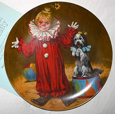 Tommy The Clown McClelland Childrens Circus Limited Edition Collectors Plate