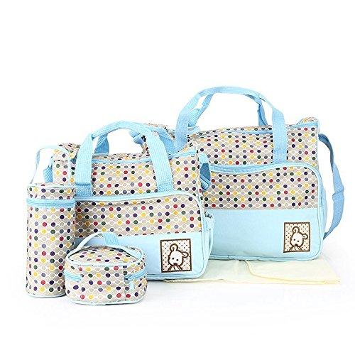 Babyhugs® 5x Baby wickeln Windel Messenger Krankenhaus Mutterschaft Set mit Tasche Colorful Polka Dots–Light Blau