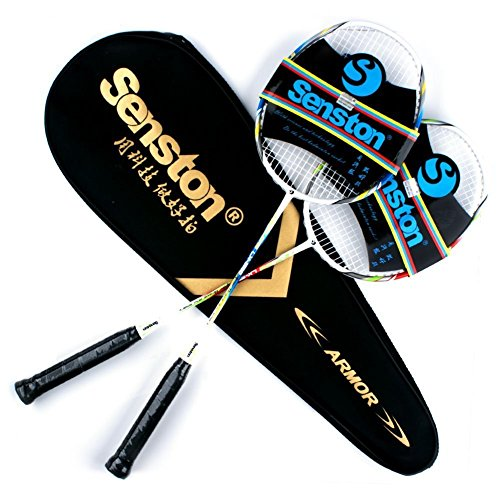senston-two-pieces-graphite-shaft-badminton-racquetbadminton-racket-setincluding-badminton-bag2-set