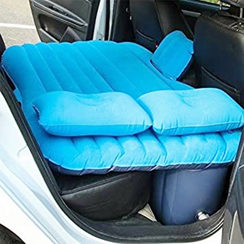 ShopyBucket Multifunctional Inflatable Car Mattress, Car Inflation Bed, Travel Air Bed Camping Car Back Seat , Extra Mattress,with Repair Pad,Air Pump For Travel (Color as per availability)