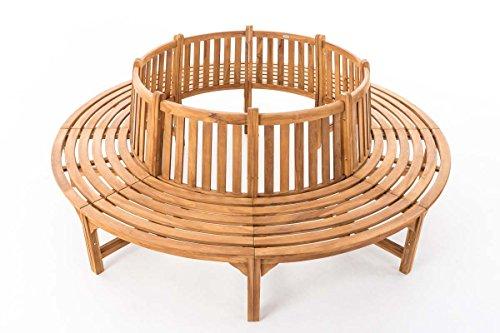 CLP Baumbank NOVUM aus massivem Teak-Holz, 360° Rund-Bank, geeignet für mindestens 8 Personen Ø ca. 132 cm / 250 cm (innen / außen) - 2
