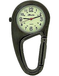 TOC Arzt/Krankenschwester FOB-Uhr, Karabinerhaken, phosphoresz., TOC58