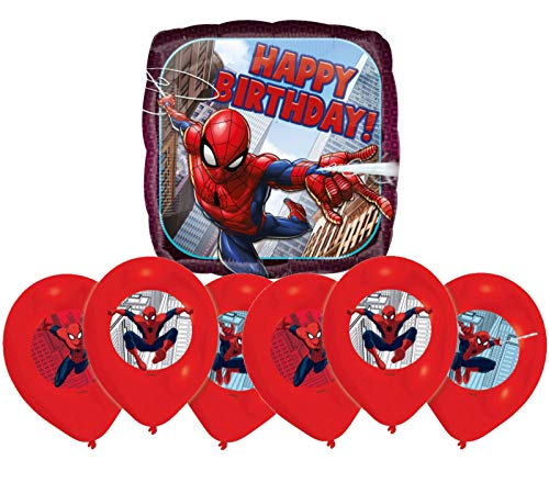 Libetui Spiderman Luftballons Kinder Geburtstag Spider-Man Dekoration Set Happy Birthday Deko-Luftballon Balloons (Geburtstag Dekorationen Spiderman)
