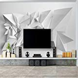 Kuamai Benutzerdefinierte Moderne Einfache 3D Mural Tapete Dreieck Hochwertige Vlies Tv Sofa Hintergrund Tapete Wohnkultur Für Arbeitsraum-200X140Cm