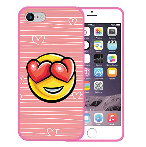 iPhone 7 Hülle, WoowCase Handyhülle Silikon für [ iPhone 7 ] Donuts Handytasche Handy Cover Case Schutzhülle Flexible TPU - Rosa Housse Gel iPhone 7 Rosa D0396