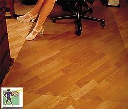 CET Bodenschutzmatte Premium - 120x150cm für Laminat, Parkett, Fliesen und harte Böden