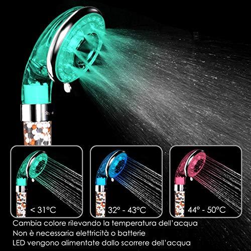 Zoom IMG-1 osazic soffione doccia anticalcare ad