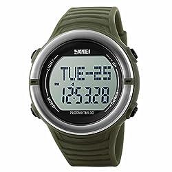 Skmei Special Digital Display Pedometer Sports watch 5ATM waterproof Stainless Steel Back