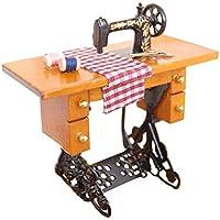 1:12 Vintage miniatura Dollhouse Mini máquina de coser muebles con muñecas de tela decoración