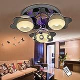 Natsen® LED Kristall Deckenleuchte Deckenlampe Designer Wohnzimmer Lampe 3-flammig LED E27 Fernbedienung Ø60