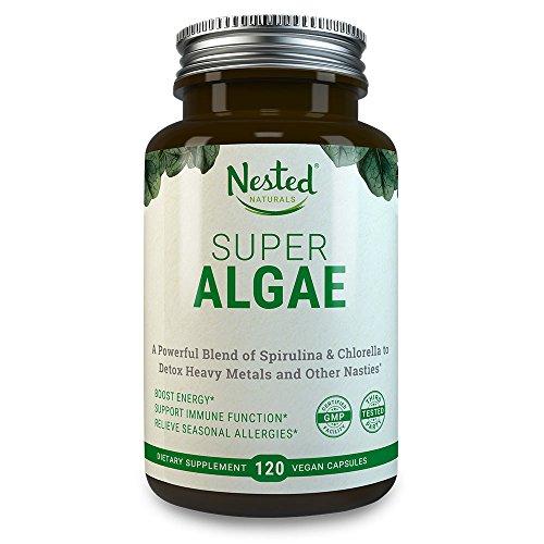 SUPER ALGAE - Spirulina 250 mg + Chlorella 250 mg Biologisch   Stärkt  Immunsystem & Darmgesundheit, entgiftet, hilft bei saisonalen Allergien -