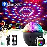 BACKTURE Luci da Palco, Luci Discoteca LED Bluetooth con Telecomando e USB Cavo, Canali RGBW 16 Colori Proiettore Luci per Natale, Halloween, Bar, Festa, Club