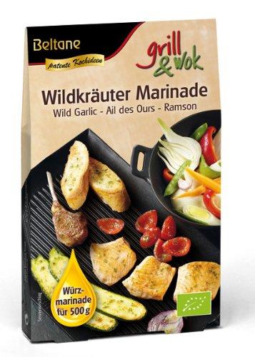 Beltane grill&wok Wildkräuter Marinade für 500 g Fleisch, Gemüse oder Fisch, 5er Pack (5 x 50 g) - Bio