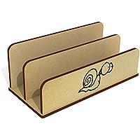 Azeeda 'Staring Snail' Wooden Letter Rack/Holder (LH00033859)