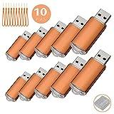 10PCS USB-Flash Drive USB 2.0 Memory Stick Memory Drive Pen Drive Orange 256MB