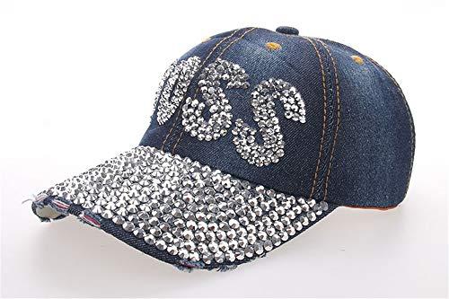 KCJMM-HAT Baseball Cap für Damen und Herren aus Reiner Baumwolle, verstellbar, Basecap Kappe Mütze Hut,BOSS Point Drill Denim Baseball Cap Schirmmütze Outdoor Sonnenhut, B