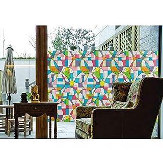 ABO No-Glue 3D Static Decorative Privacy Window Film, AW1007 ((17.7'x78.7'(45x200cm))