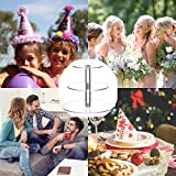 SZFLWA Cupcake Ständer, Kuchenständer 3-Stufig Acryl Halten sie Cupcakes Desserts für Nachmittagstee Party Baby Duschen Hochzeiten (Runde) - 5