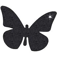 Baby Bites Pegatinas Reflectantes, diseño de Mariposa, Color Negro