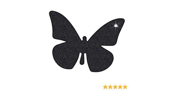 Reflektor Aufkleber Schmetterling Reflexfolie Sticker Reflektierend Schwarz Sport Freizeit