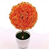 ECYC Emulate Bonsai Simulation Decorativo Artificial Flower Pot Plants Ornamentos, Naranja