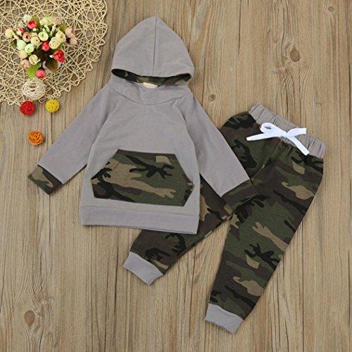 Neonato-Bambino-Manica-Lunghe-Cappuccio-Vestiti-Camuffamento-Top-Felpa-Pantaloni-Due-Pezzi-Suit