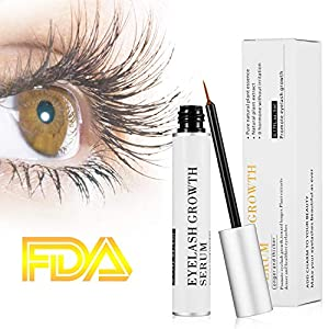 Eyelash Growth Serum Eyelash Conditioner Eyelash Enhancer Treatment for Eye Lash and Brow Non-Irritating Formula 5ml(2 Packs)