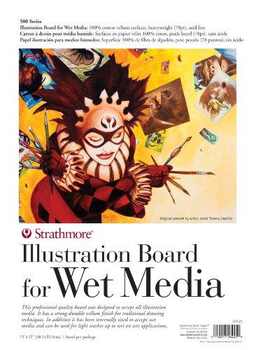 strathmore-500-series-illustration-board-for-wet-media-1-sheet-15-x-22-or-381mm-x-559mm
