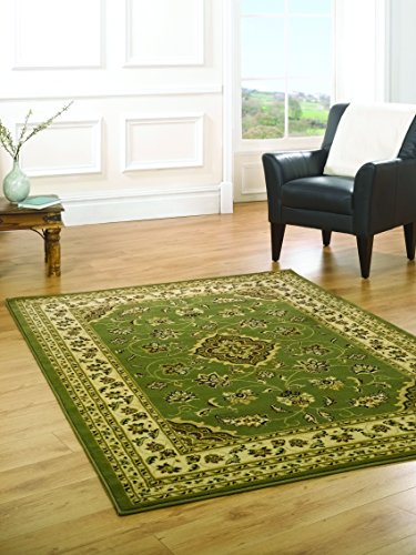 Grande, con motivo floreale orientale in stile persiano tradizionale tappeto, Tappetino Runner, colore: verde, 60 x 230 cm