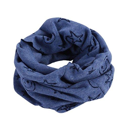 Bluestercool Otoño invierno bebé pañuelos Niños Niñas collar del bebé  bufanda de algodón Cuello redondo Bufandas acf6b6fa5f5