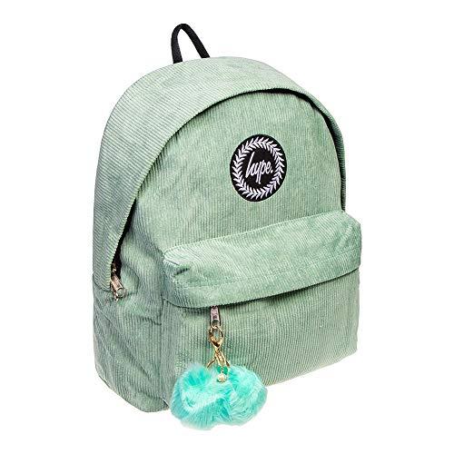 Hype Corduroy Pom Backpack One Size Mint/purple Basic Corduroy