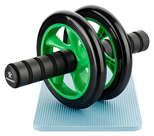 BODYMATE AB Roller Classic Grün I Bauchtrainer mit Knieauflage I Bauchroller mit Komfortgriffen I Bauchmuskeltrainer I AB Wheel