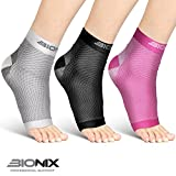 Plantar Fasciitis Foot Socks | Best Compression Sleeve for Ankle Arch & Heel Achilles Tendon Supports Brace | Men and Women Night Splint Pain Relief | L/XL Black