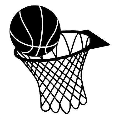 Basketball Und Net Hoop Vinyl Wandkunst Aufkleber Boy Room Ideas Schlafzimmer Wandaufkleber Dekorative Aufkleber 57X53Cm -